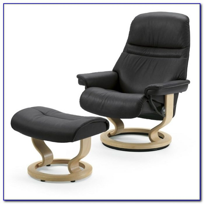 Black Oversized Chair With Ottoman