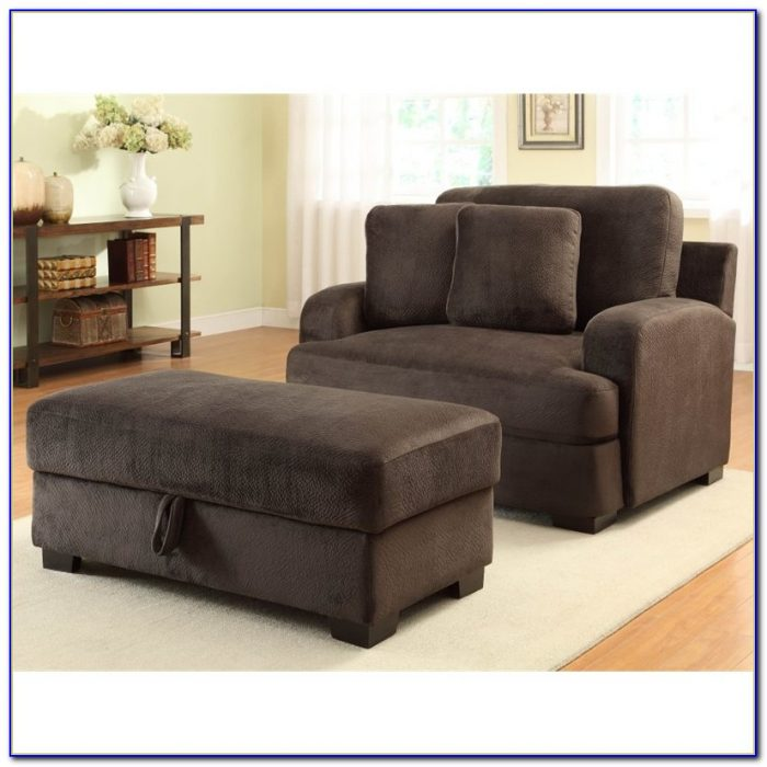 Comfy Oversized Chair With Ottoman