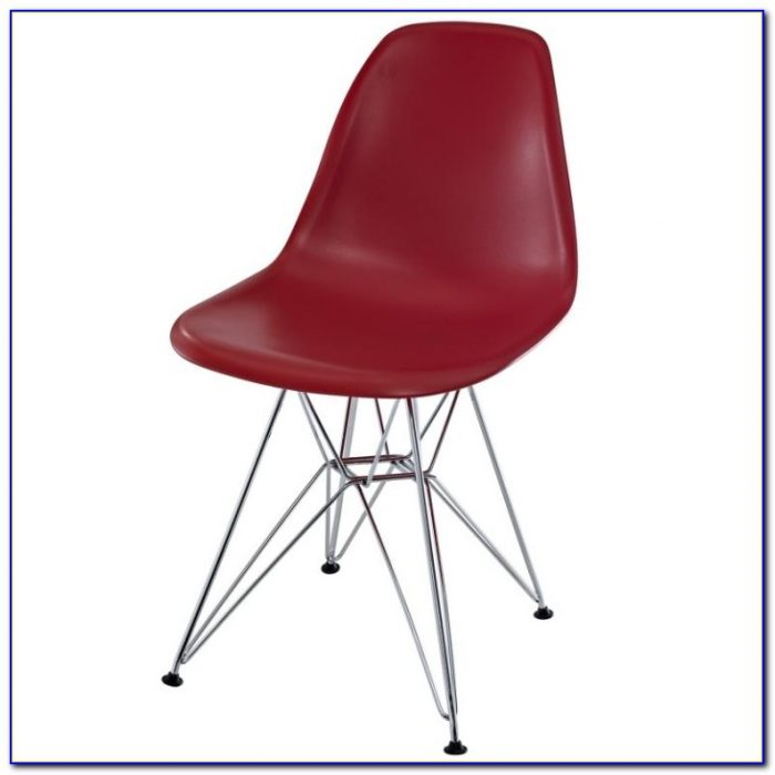 Eames Molded Plastic Chair Upholstered