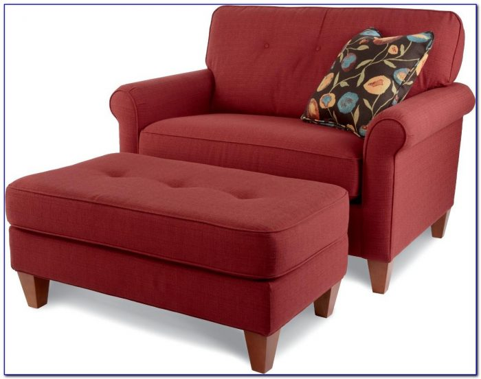 Oversized Chair With Ottoman Slipcover