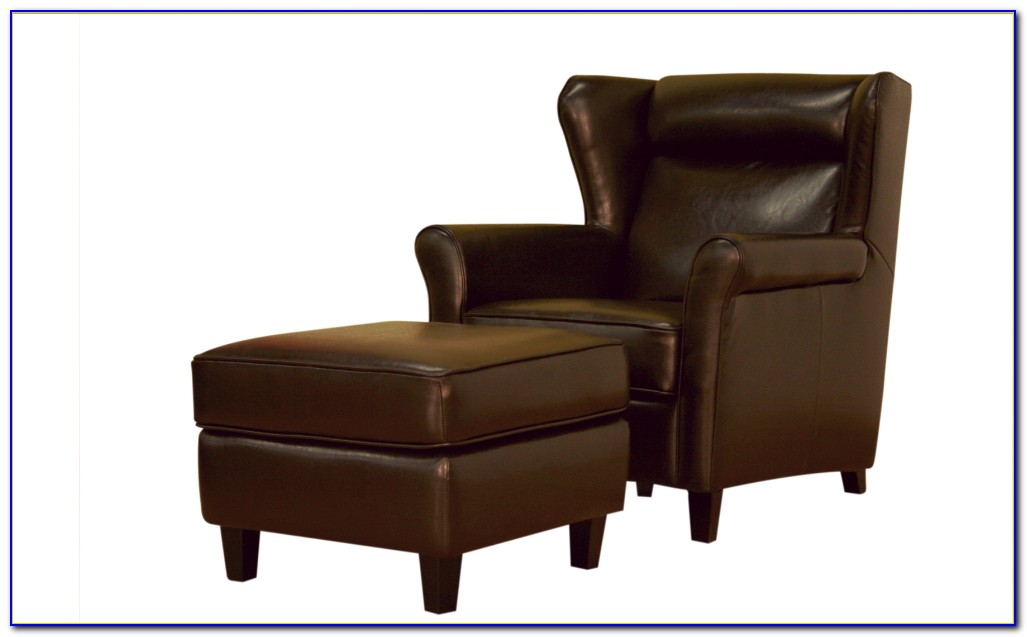 Oversized Chairs With Attached Ottoman