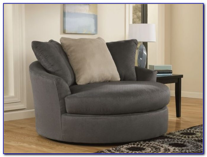 Oversized Round Swivel Accent Chair
