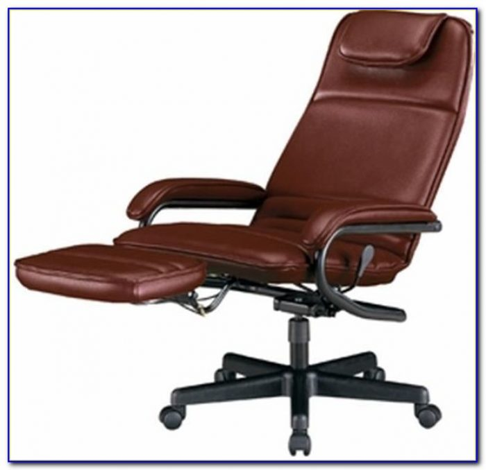 Reclining Desk Chair With Monitor
