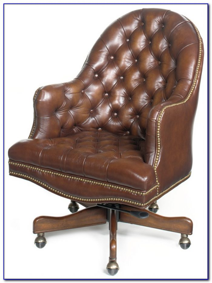 Tufted Leather Chair And A Half