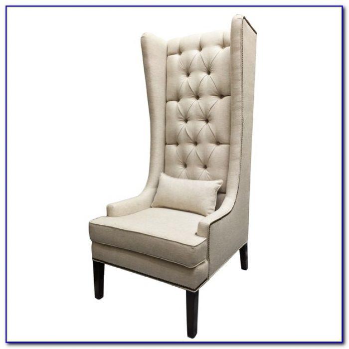 Velvet Tufted Wingback Chair
