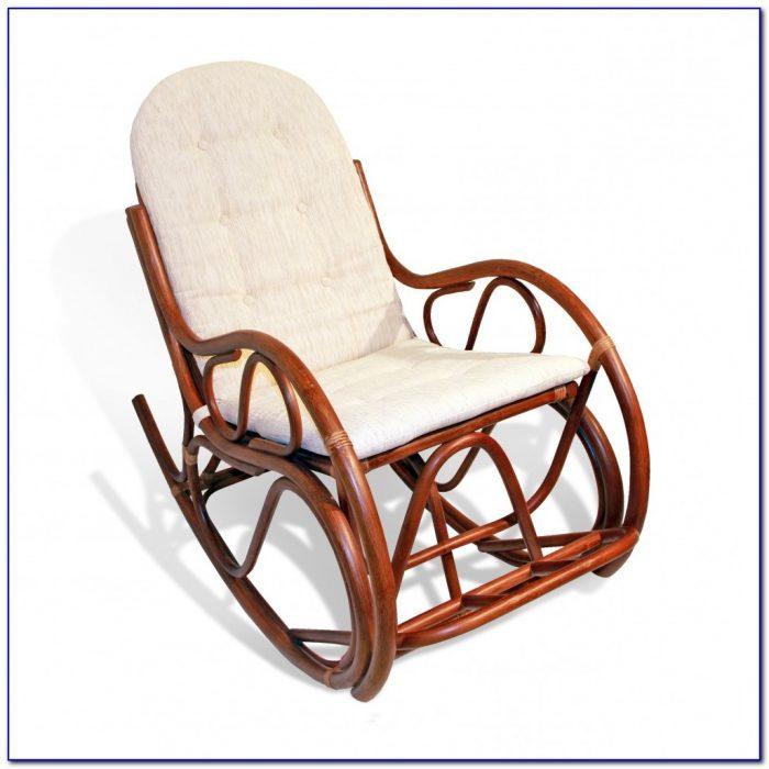 Wicker Rocking Chair White