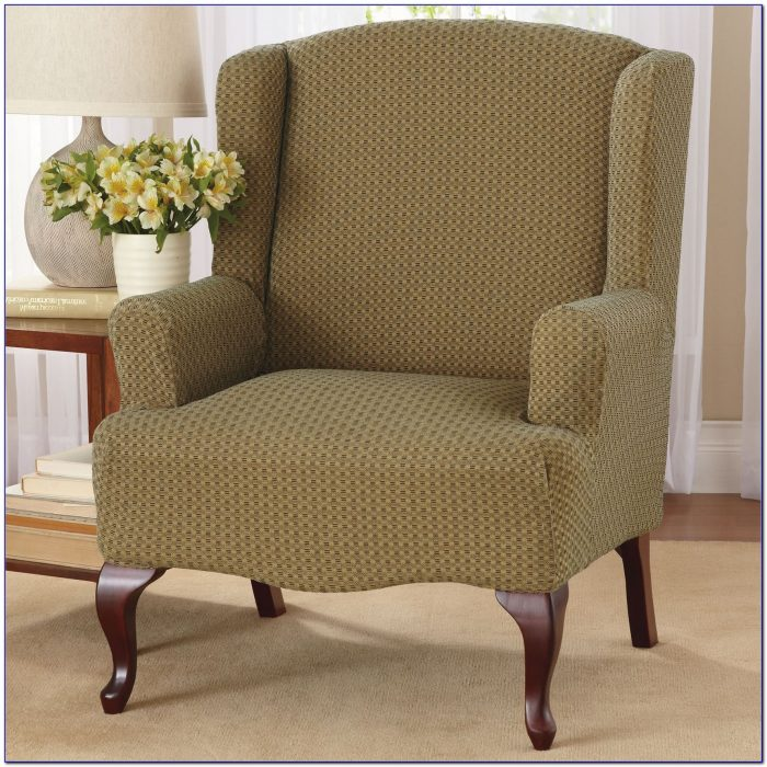 Wingback Chair Slipcovers With Square Cushion