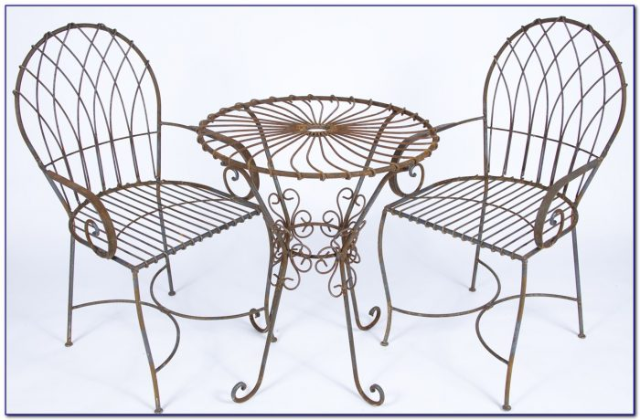 Wrought Iron Table And Chairs Used