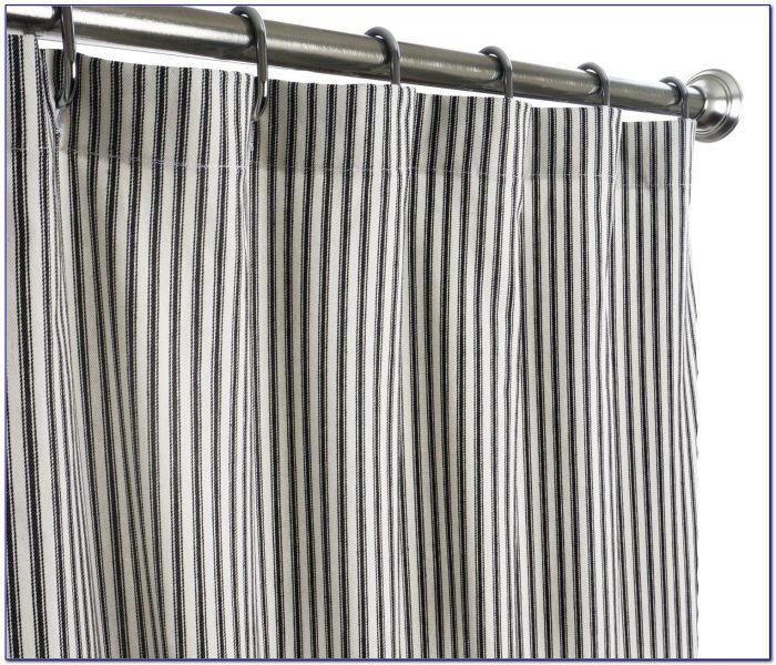 96 Inch Shower Curtain Black