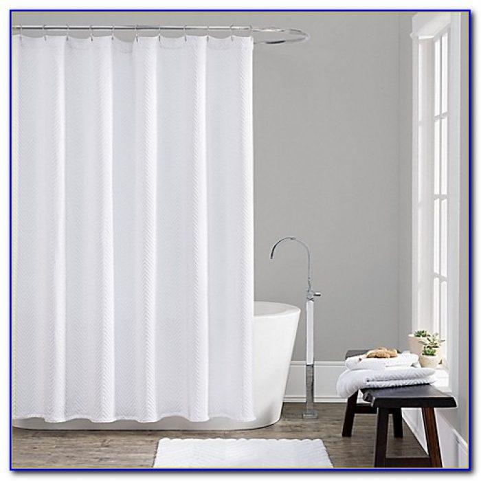 96 Inch Shower Curtain White