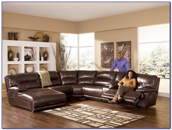 Ashley Furniture Bonded Leather Sectional