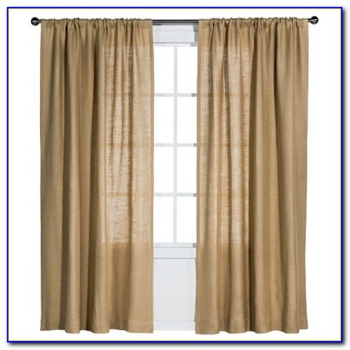 Burlap Curtain Panels 95