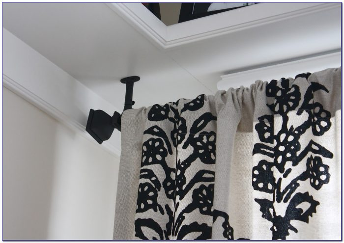 Ceiling Mount Curtain Rod Set