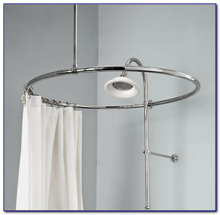 Clawfoot Tub Shower Curtain Rod You Can Make Yourself