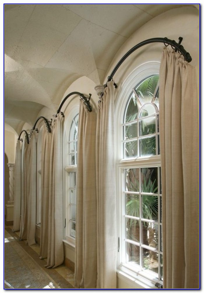 Curved Curtain Rods For Arched Curtains