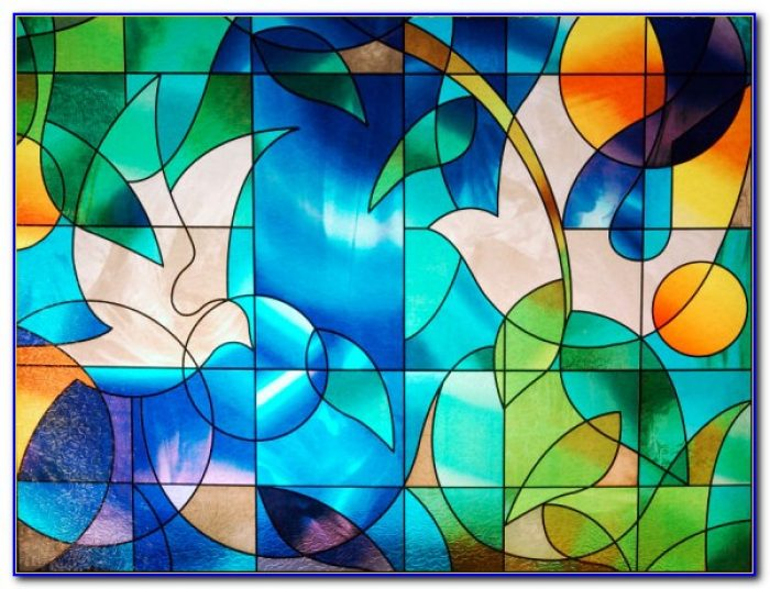 Decorative Stained Glass Window Film Mosaic Tile Jewel