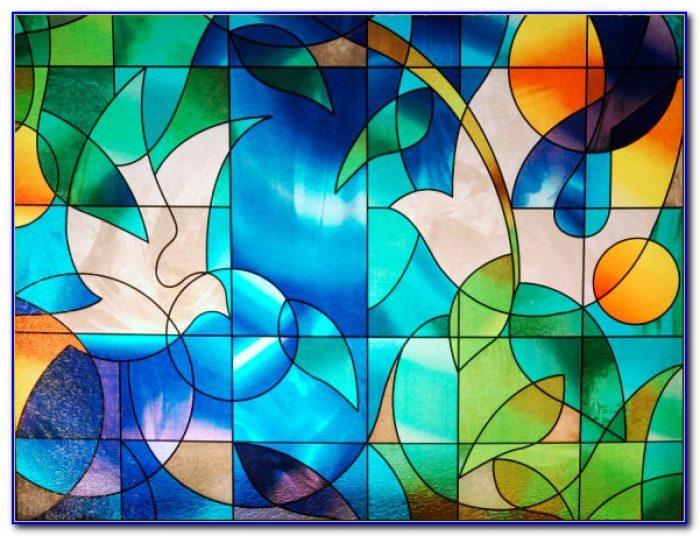Decorative Stained Glass Window Film Mosaic Tile Jewel