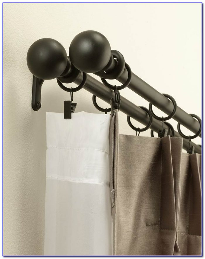 Double Curtain Rod Set 144 Inches