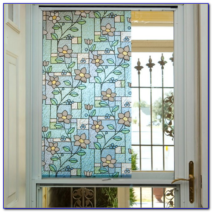 First Stained Glass Decorative Window Film