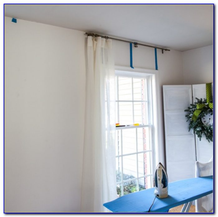 How To Install Curtain Rods On The Ceiling
