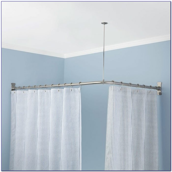 L Shaped Shower Curtain Rod 60 X 32