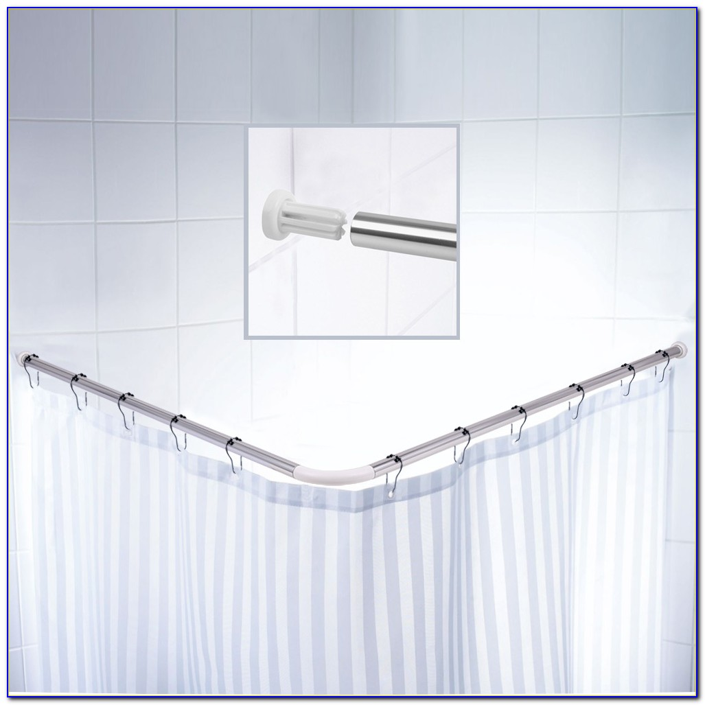 L Shaped Shower Curtain Rod Bed Bath And Beyond Curtain