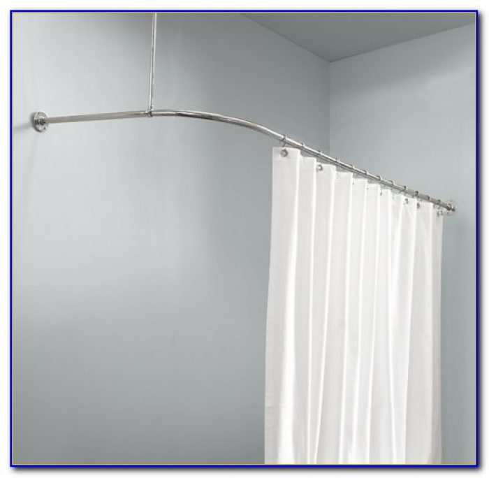 L Shaped Shower Curtain Rod Without Ceiling Support