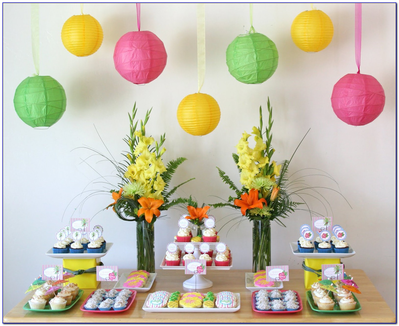 Luau Party Decorations Printables