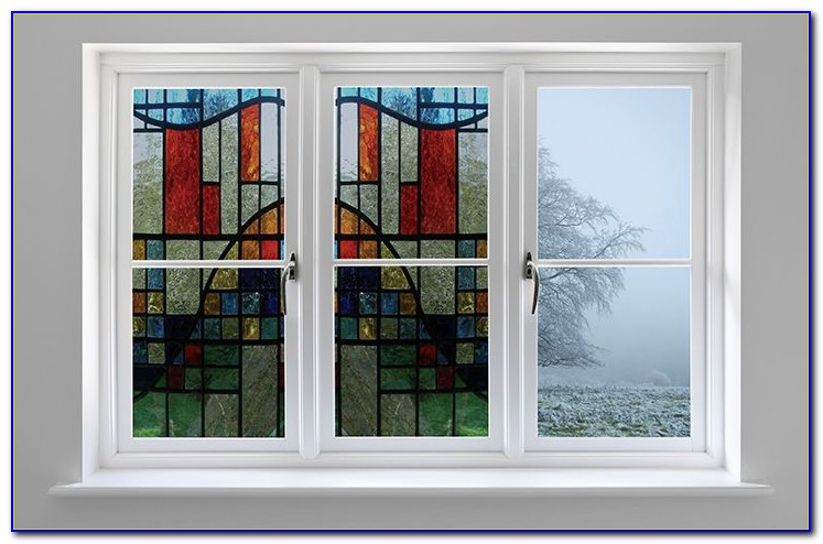 Privacy Stained Glass Decorative Window Film