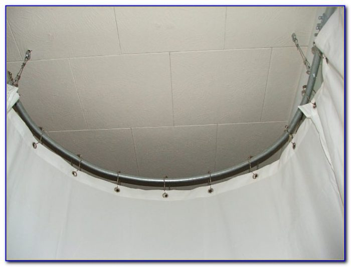 Round Shower Curtain Rod Diy