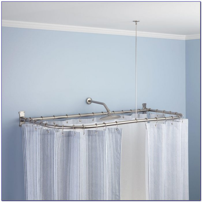 Shower Curtain Rods For Corner Showers