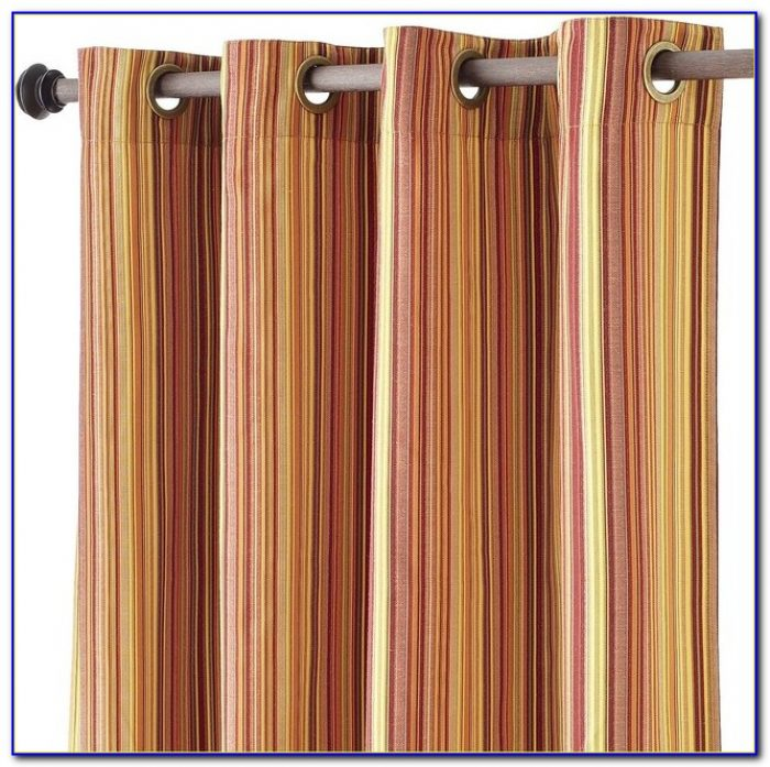 Striped Curtain Panels Red