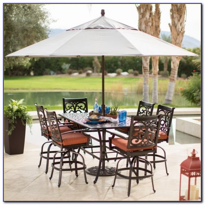 11 Foot Patio Umbrella Wood Pole