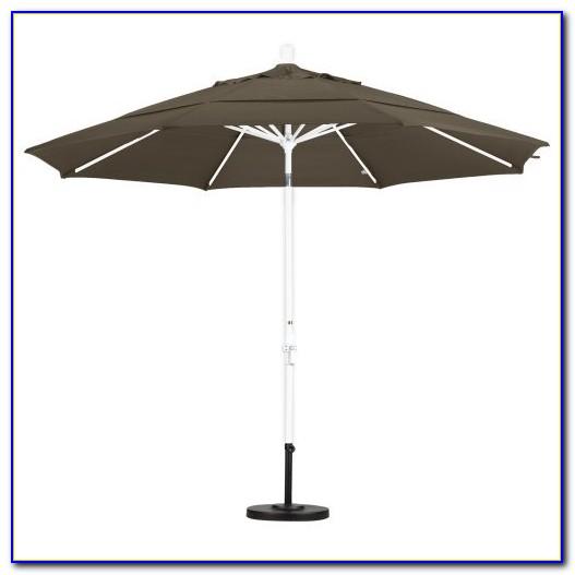 11 Ft Patio Umbrella With Solar Lights