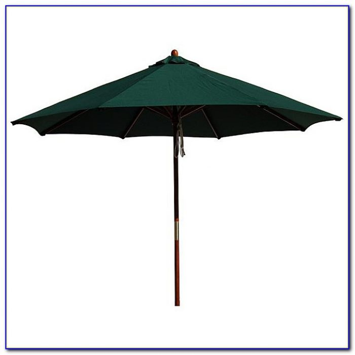 9 Ft Patio Umbrella With Solar Lights