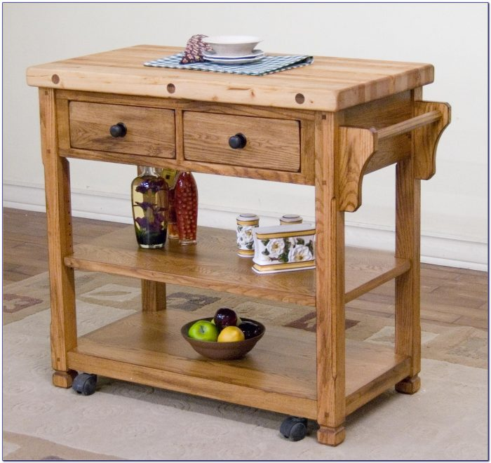 Butcher Block Kitchen Cart Diy