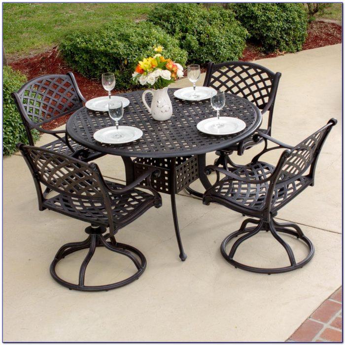 Cast Aluminum Patio Dining Chairs