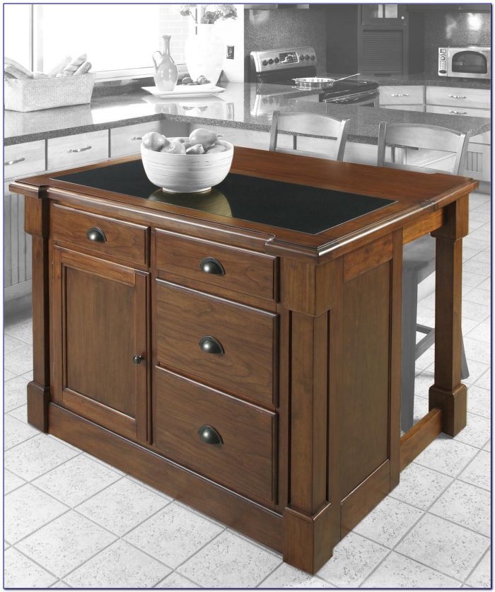 Drop Leaf Kitchen Island With Butcher Block Top