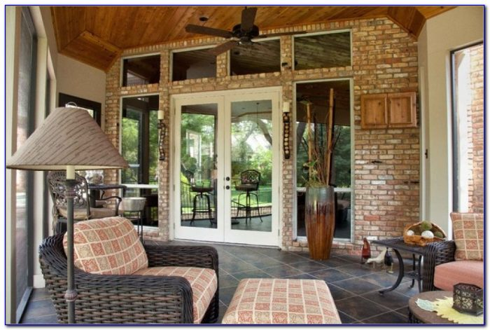 Enclosed Patio Decorating Ideas