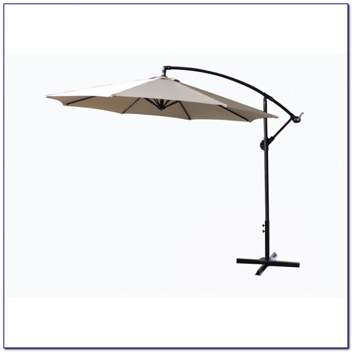 Hampton Bay Patio Umbrella With Solar Lights