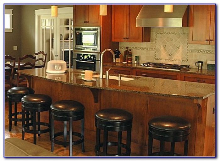Kitchen Island With Stools On Both Sides