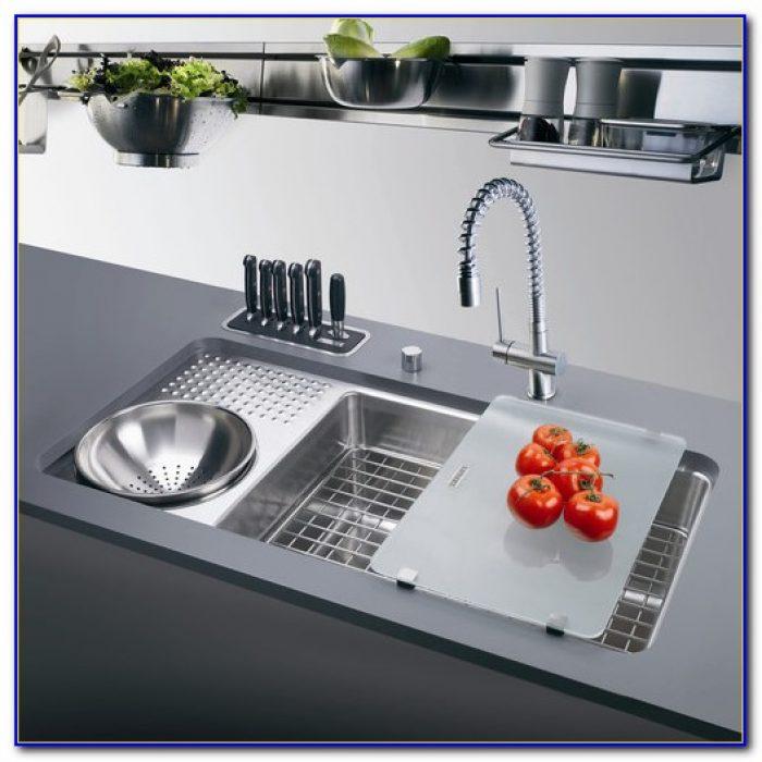 Kitchen Sink With Drainboard Stainless Steel