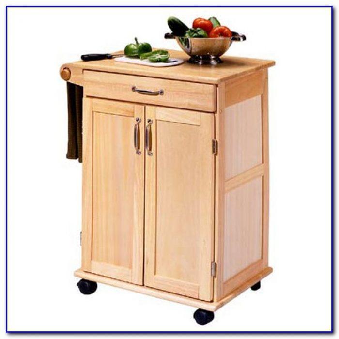 Kitchen Utility Cart Solid Beechwood