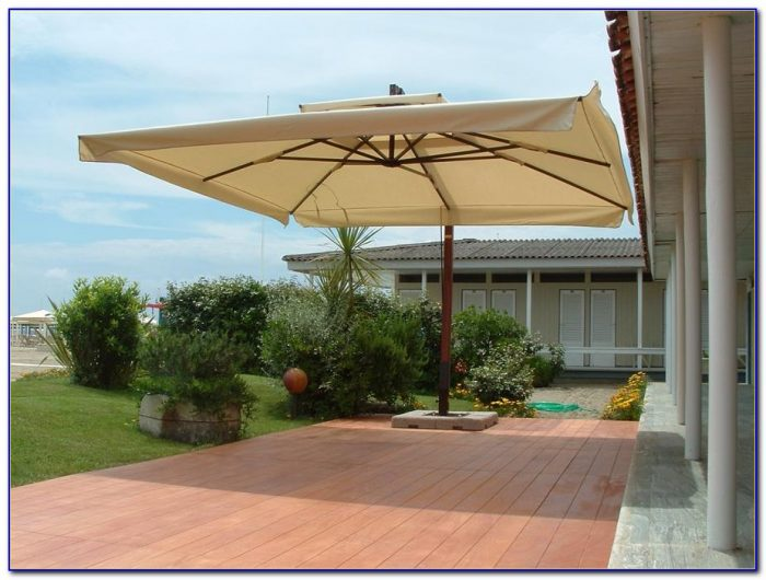 Large Patio Umbrella With Lights