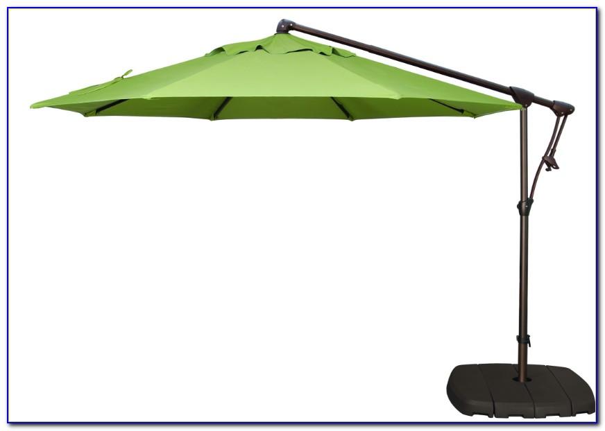 Offset Patio Umbrella With Lights