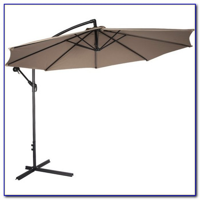 Offset Patio Umbrella With Netting
