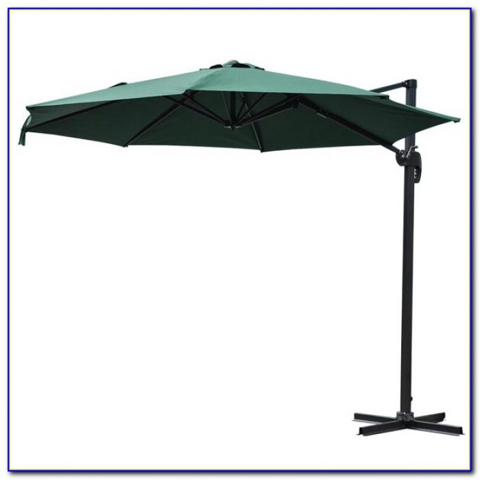 Offset Patio Umbrella With Solar Lights