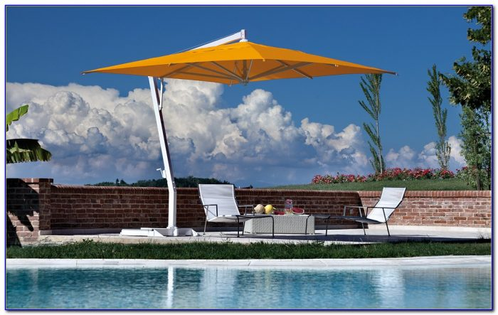 Offset Patio Umbrellas With Base