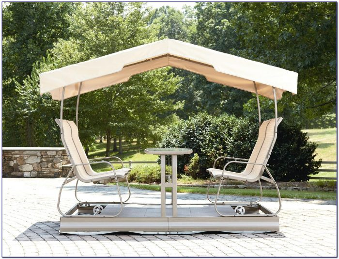 Patio Glider Swing With Canopy