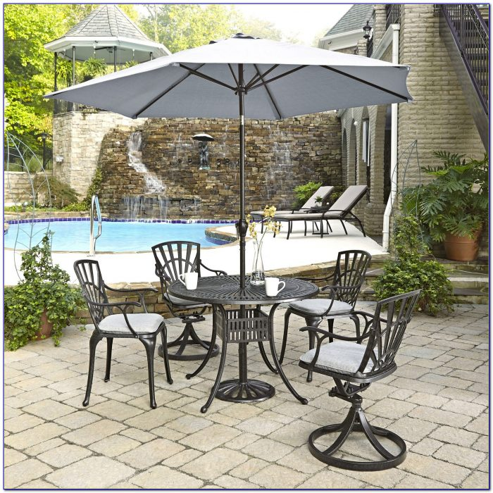 Patio Table With Umbrella Cover